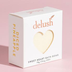 chilliwack delush bath bomb yellow box pink backgroud