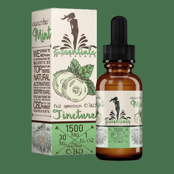 Essentials by Savage Cucumber Mint Full Spectrum CBD Oil Tincture