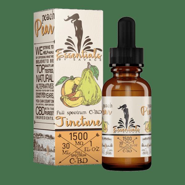 Essentials by Savage Peach & Pear Full Spectrum CBD Oil Tincture 1500mg
