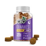 CBDfx Melatonin CBD Sleep Gummies Canada 1500mg (60 Count Bottle)